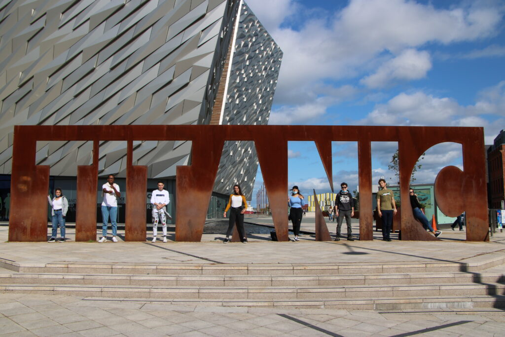 Students at Titantic in Belfast