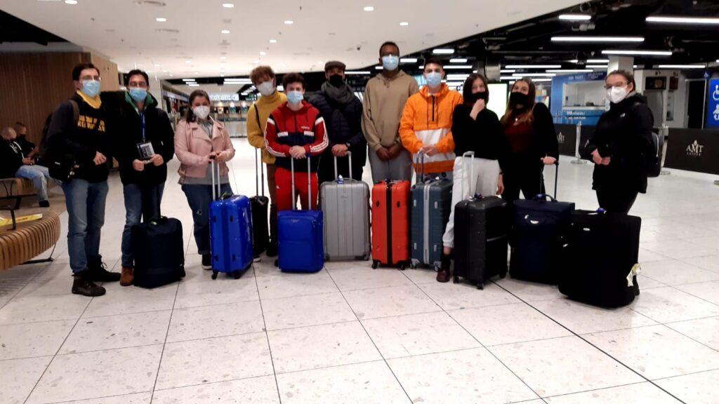 erasmus+ students arriving in ireland