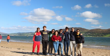 italian students in county donegal on erasmus
